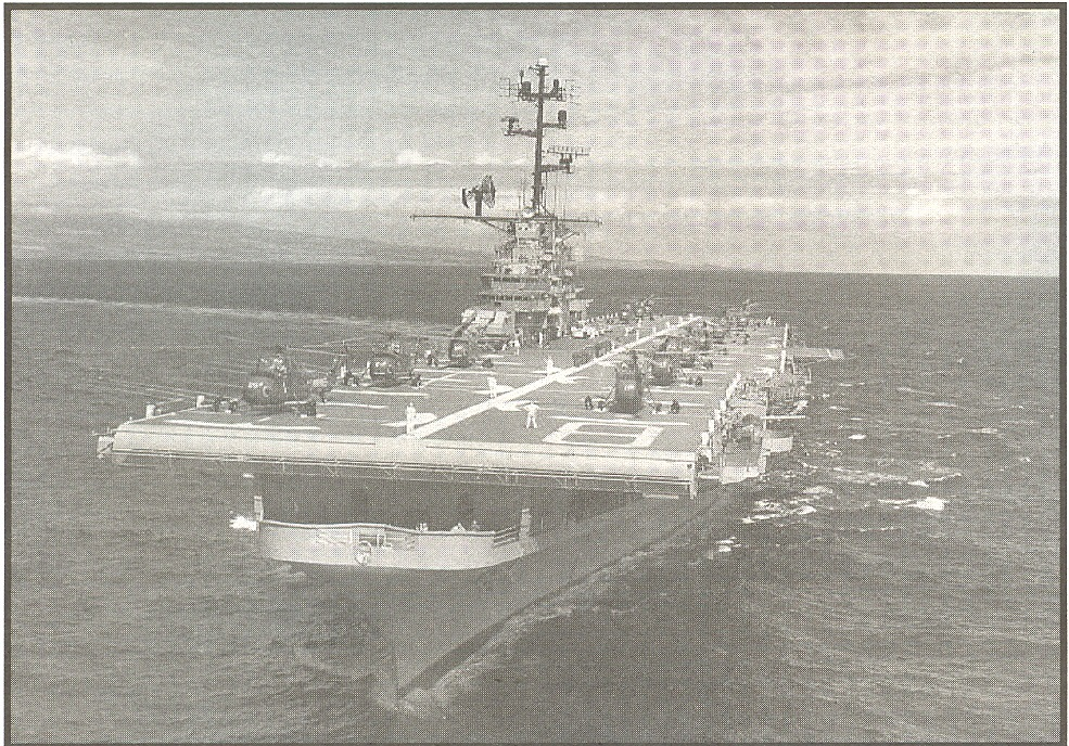Valley Forge  Bow-on off Hawaiian Coastl 1962