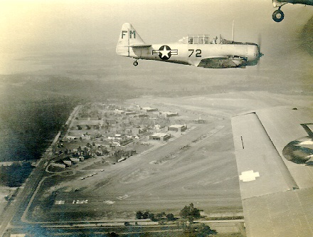Coming into Saufley Field  1947