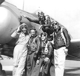 Doll on the wing, Whitten, Howard, Bosworth, and LTjg Clayton on the ground