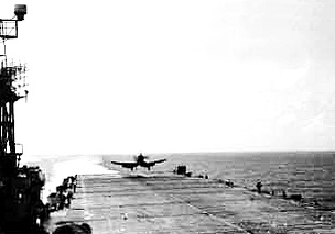 F4U Corsairs also qualified same time as F6Fs