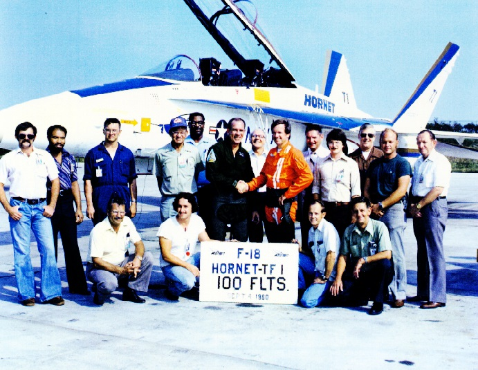 My first F-18 flight and the 100th for Aircraft TF-1    COMNAVAIRLANT era    NAS PAX River    20 NOV 1974