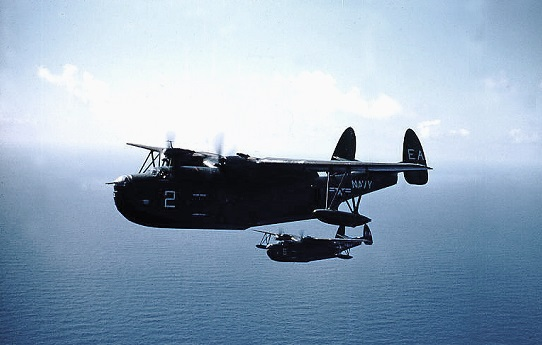 "VP-49 PBM-5S2 Martin ""Mariner"" flying boats, somewhere over the Atlantic          1952"