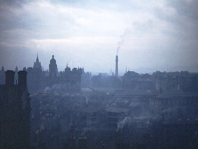 downtown Edinburgh, Scotland    28 Sept 52