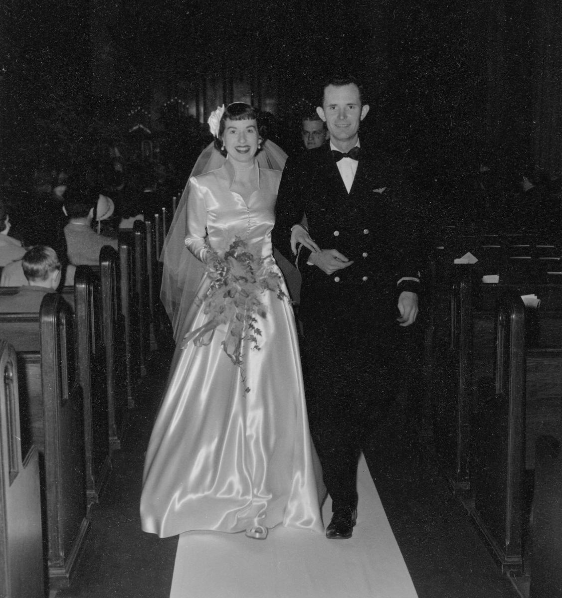 Harley and Althea Wilbur - their Wedding                2 February 1951