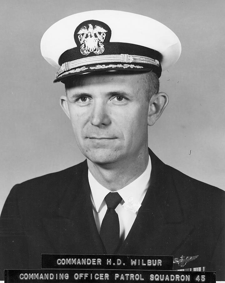 CDR Harley D. Wilbur USN  Commanding Officer, Patrol Squadron FORTY-FIVE (VP-45        1967-1968