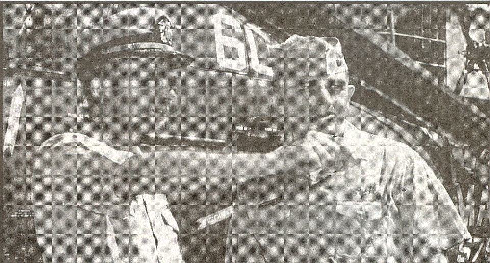 Aerologist LCDR Jack Brewer & USS Valley Forge (LPH-8) XO Jim Allem