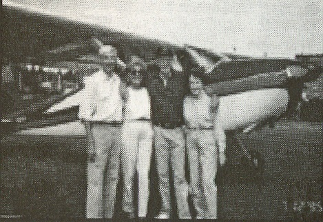 Earl & Dixie Rogers, Stan & Audrey Pederson, and their Cessna 180 in Alaska